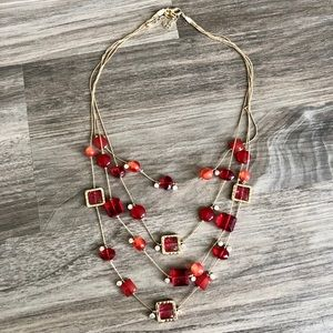 Red Multi-layer Necklace